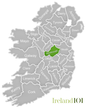 Westmeath Ireland Map.Counties Of Ireland Westmeath Ireland