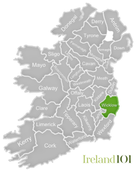 Wicklow ireland map