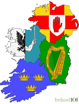 Map Of Ireland By County.Counties Of Ireland Ireland