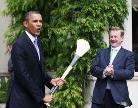 US President Obama visits Dublin