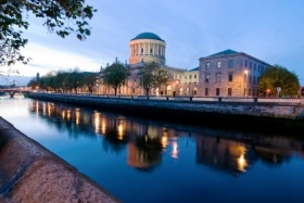 The Four Courts along the River Liffey