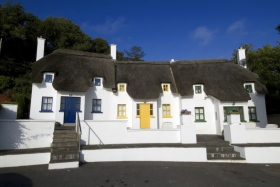 Tatched cottages in Dunmore East, Waterford