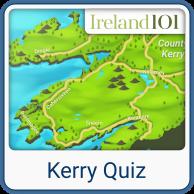 Map Of Ireland Kerry Region.Counties Of Ireland Kerry Ireland