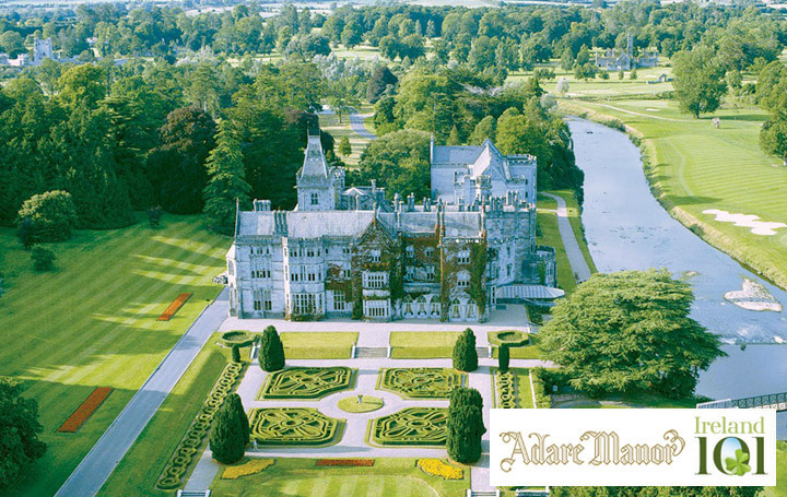 Adare Manor Hotel & Golf Resort in partnership with Ireland 101