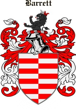 BARRET family crest