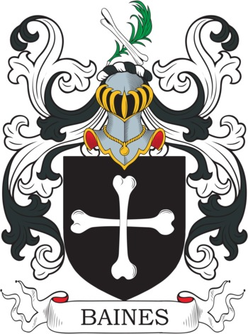 BAINES family crest