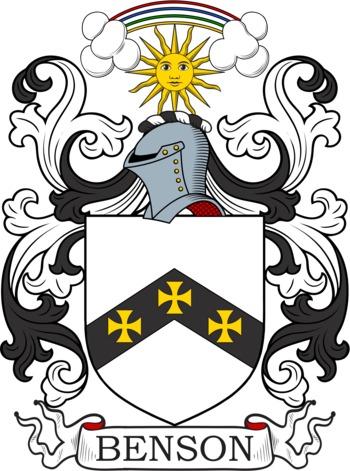 BENSON family crest