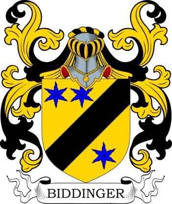 BIDDINGER family crest