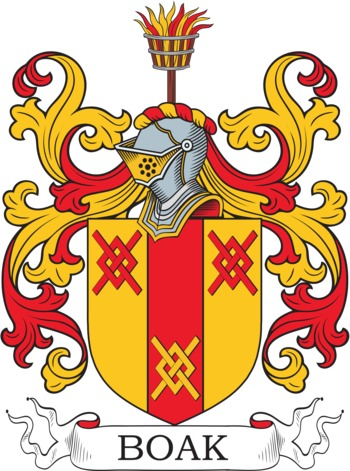 BOAK family crest