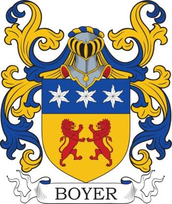 Boyer family crest