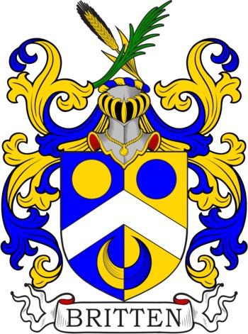 BRITTEN family crest