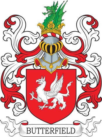BUTTERFIELD family crest