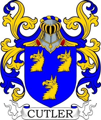 CUTLER family crest