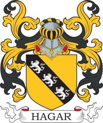 HAGAR family crest