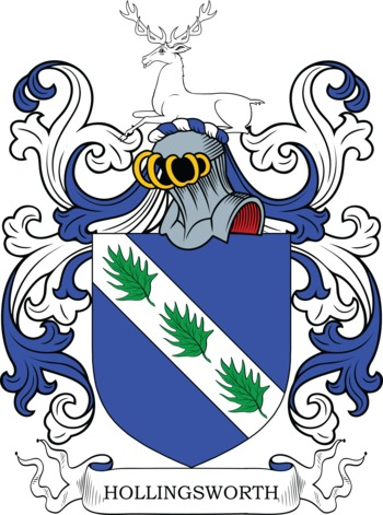 HOLLINGSWORTH family crest