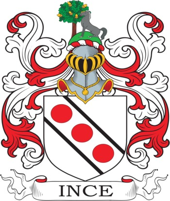 INCE family crest