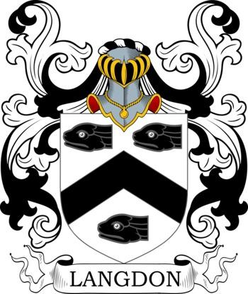 LANGDON family crest