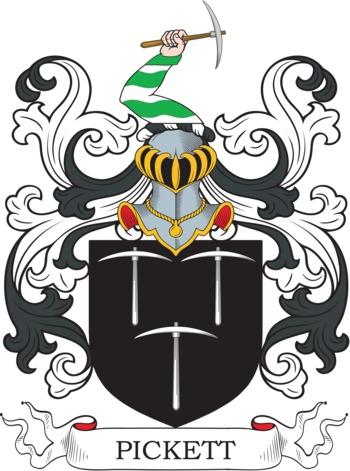 PICKETT family crest