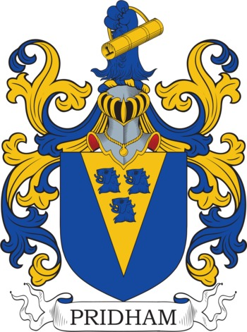 PRIDHAM family crest