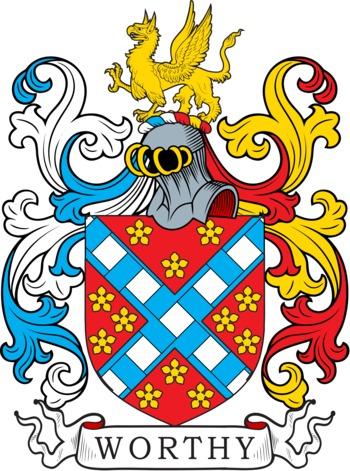 WORTHY family crest