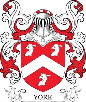 YORK family crest