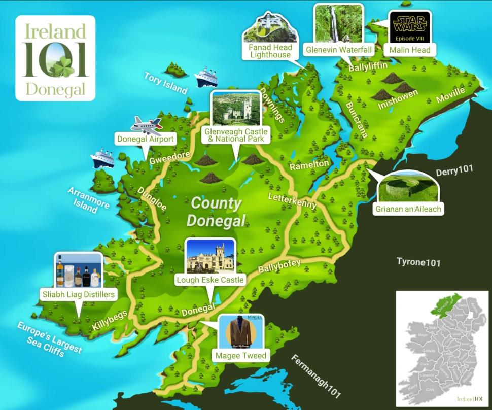 Map Of Ireland Quiz.Donegal Quiz Ireland