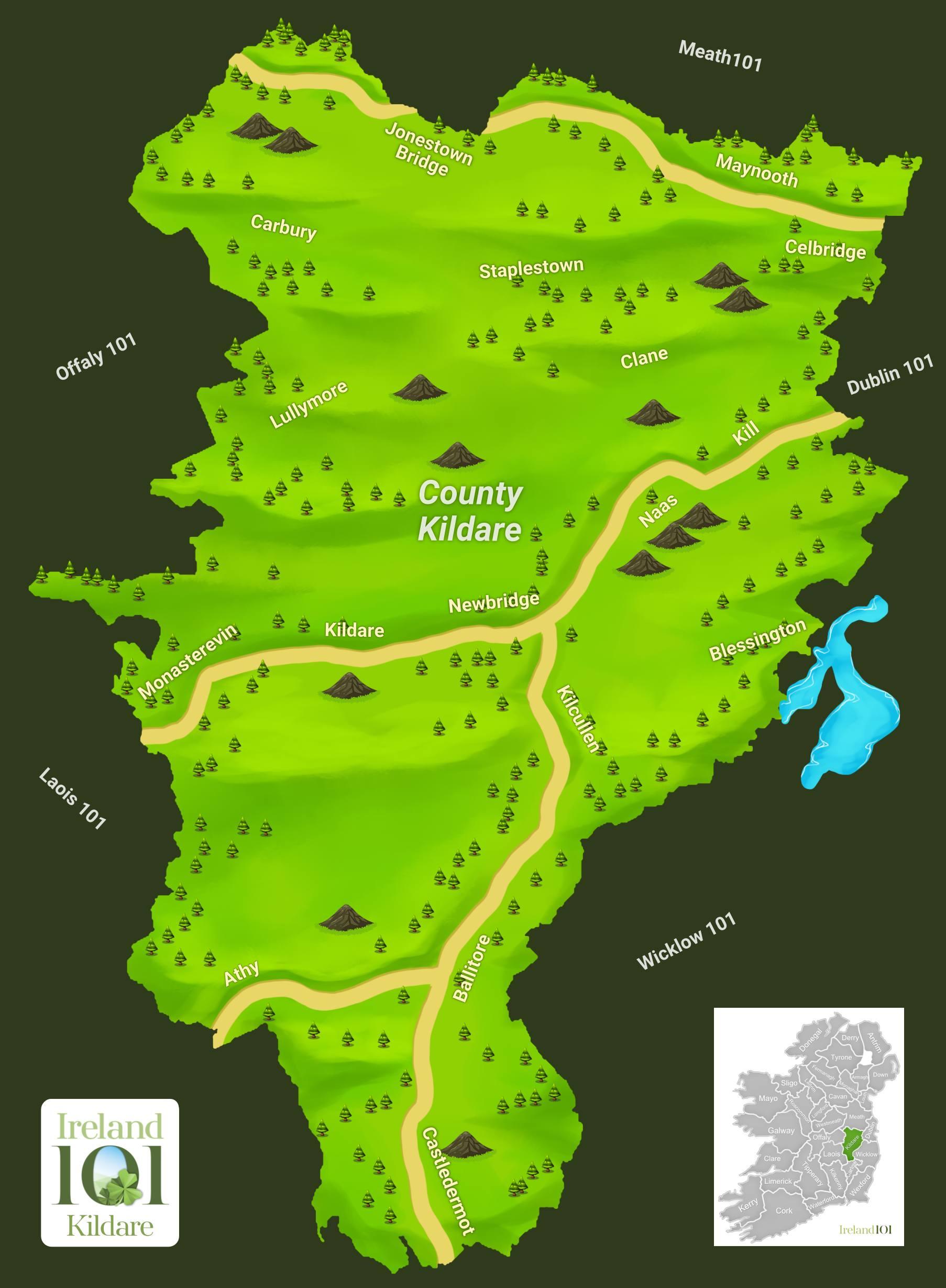 Map Of Ireland Quiz.Kildare Quiz Ireland